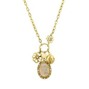 Retro Floral long pendnat charm necklace