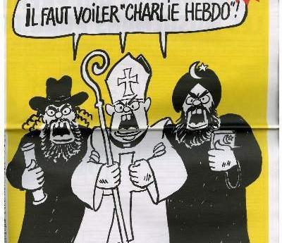 Charlie Hebdo's offices firebombed for printing cartoon of the prophet Mohammed