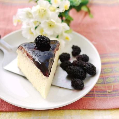 Blackberry Japanese Cheesecake