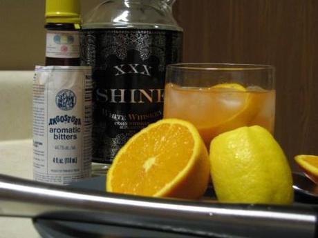 Booze Review: Shine XXX White Whiskey. Shine XXX Old Fashioned