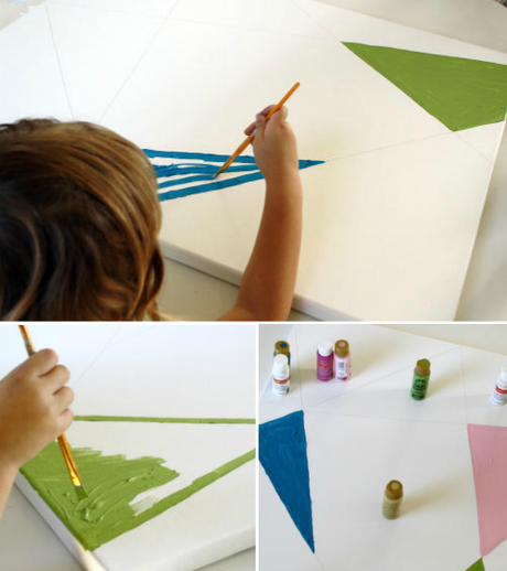 geometric art ..kid art
