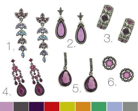 Mademoiselle Purple Sparkle Jewelry