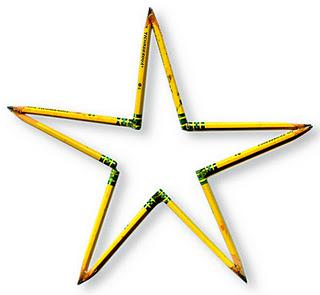 Recycled Pencil Stars