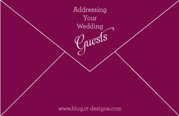 Addressing Your Wedding Guests
