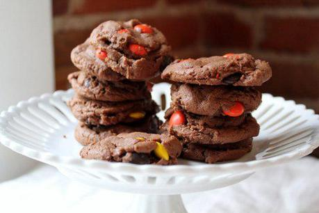Food: Double Chocolate Peanut Butter Reese's Pieces Cookies.