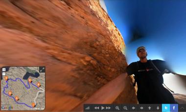 A 360º Panoramic Video Mountain Bike Ride Through Moab
