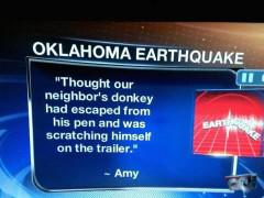 Oklahoma Earthquakes! {Call Kevin Bacon & Reba, Here Comes The Grab-Oids!}