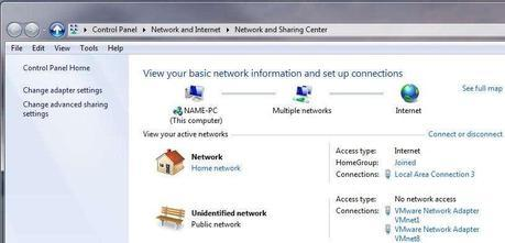 Windows 7 Public Network