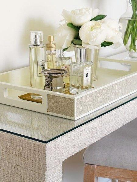 Saturday inspiration vanity trays paperblog for Decorative bathroom tray