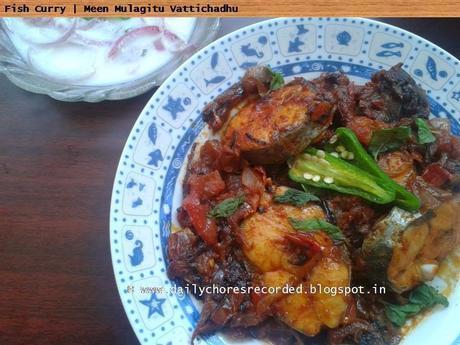 Meen Mulakitu Vatichathu | Fish Gravy Kerala Style