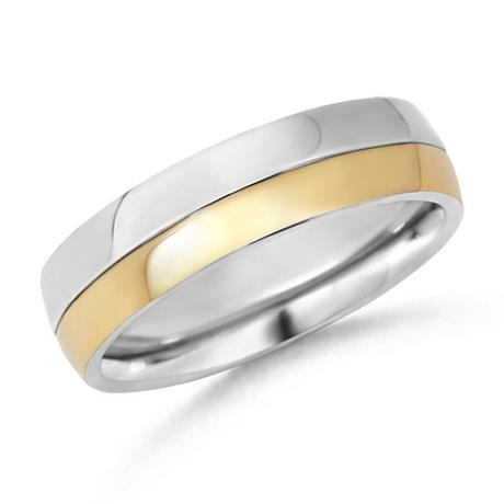 two tone s wedding band paperblog