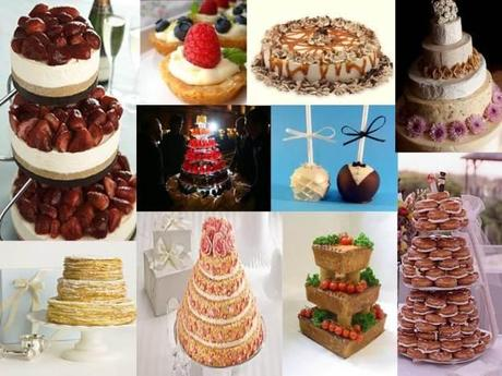Alternatives to wedding cake collage