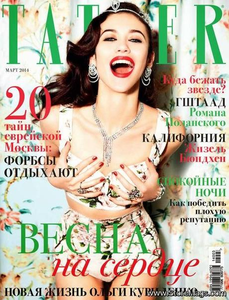 Olga Kurylenko for Tatler Russia March 2014