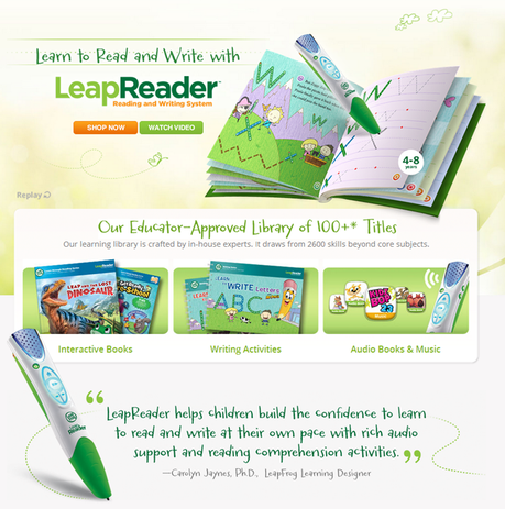 Review leapfrog leapreader reading and writing system paperblog leapreader screenshot from site sciox Choice Image