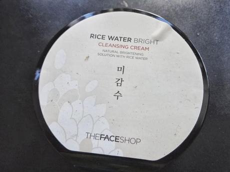 My night time cleanser: The Face Shop Rice Water Bright Cleansing Cream