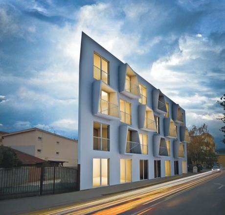 a striking slovakian apartment building paperblog. Black Bedroom Furniture Sets. Home Design Ideas