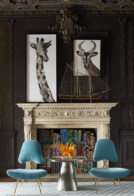 Jonathan Adler fireplace