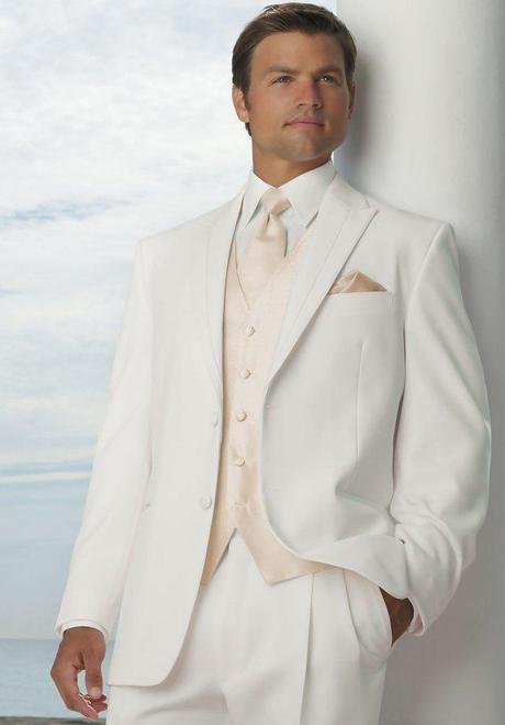 Groom wearing white