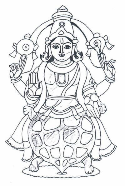 samudra manthan coloring pages - photo#5