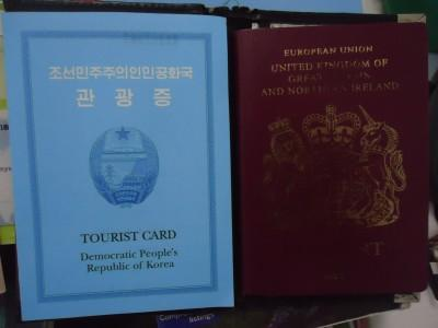 north korea dprk tourist card