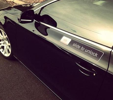 Slide to unlock car decal sticker