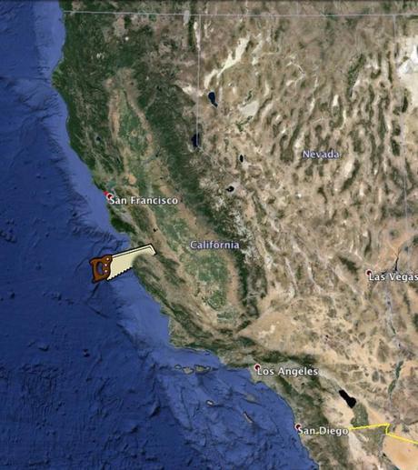 California on Google Earth