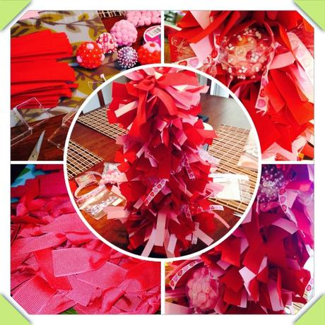 DIY:  Valentine's Day Ribbon Tree.
