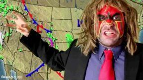 Your weather man will be weaponed up like Rambo.