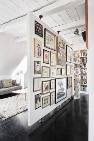inspiration board   room divider