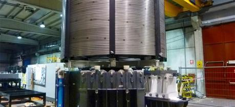General Atomics in San Diego, Calif., is overseeing the fabrication of the central solenoid, including the development of specialized tooling stations. This de-spooling tool—being developed by Tauring in Torino, Italy—will become part of the part of the conductor winding station at GA