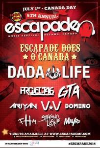 escapade does O Canada