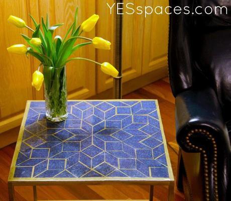 mosaic after close up DIY: Milo Baughman Inspired Mosaic Cube Table for under $52
