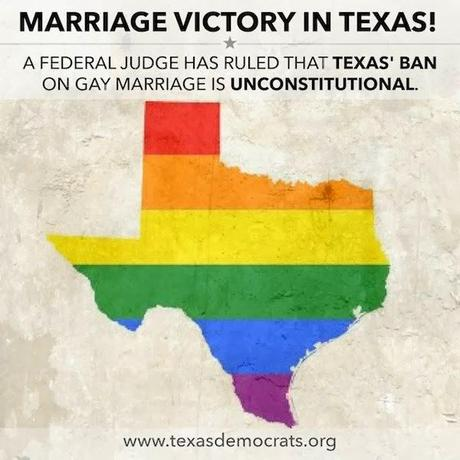 Same-Sex Marriage Ban In Texas Ruled Unconstitutional
