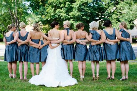 Close bond between bride and bridesmaids