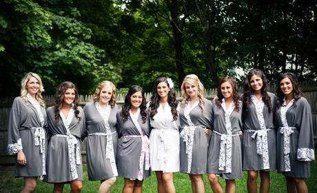 Bridesmaid gift ideas matching bathrobes