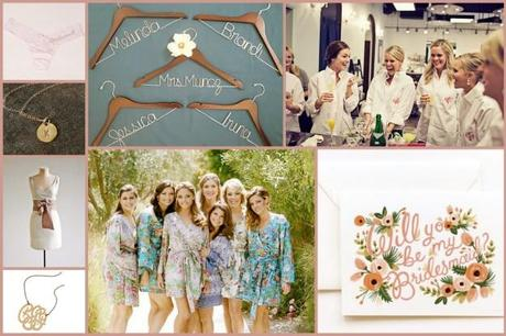 Bridesmaid gifts collage