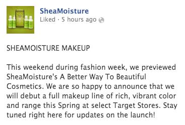 Shea Moisture Launches