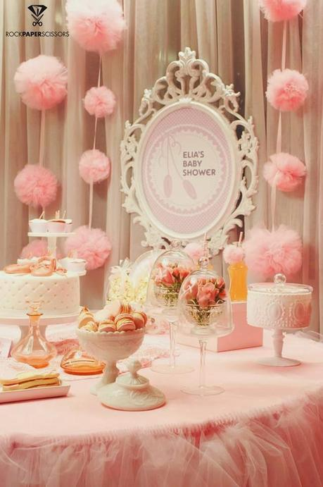 ballerina baby shower by rock paper scissors paperblog