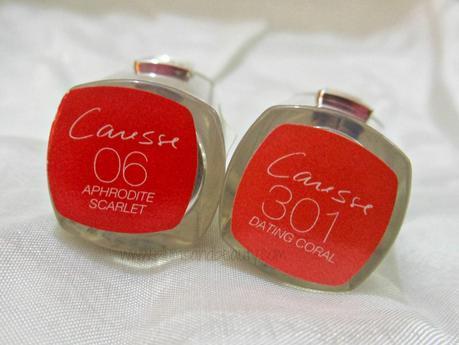 Sneak Peek : New! L'Oreal Paris Rouge Caresse Lipsticks (301) Dating Coral and (06) Aphrodite Scarlet