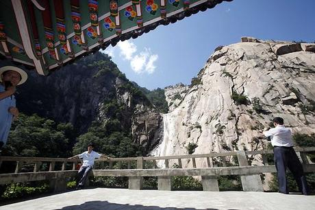 A Peak View of Mt. Kumgang, North Korea. Pic: AP.