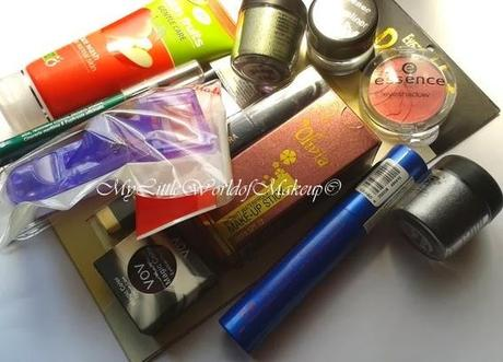 My first Make up haul in 2014 featuring Essence and Eyetex Dazzler and VOV