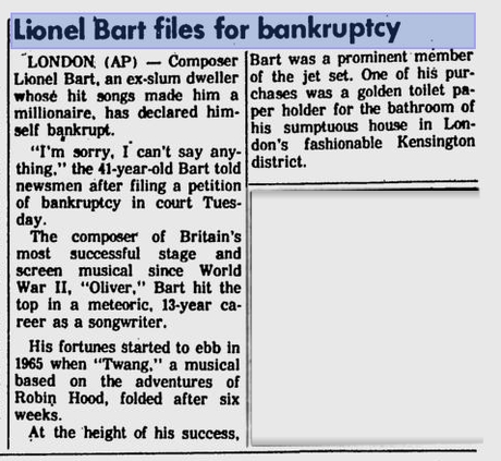 Bart! 10 Reasons Why Lionel Bart is the Greatest of All London Composers