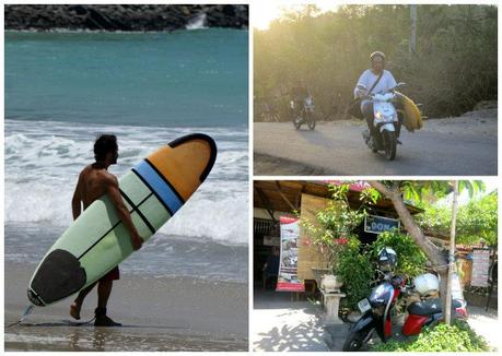 It's the surfing and not the mining that attracts tourists to Kuta, Lombok.