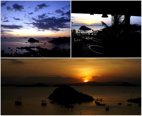 View of the sunset at Labuhan Bajo