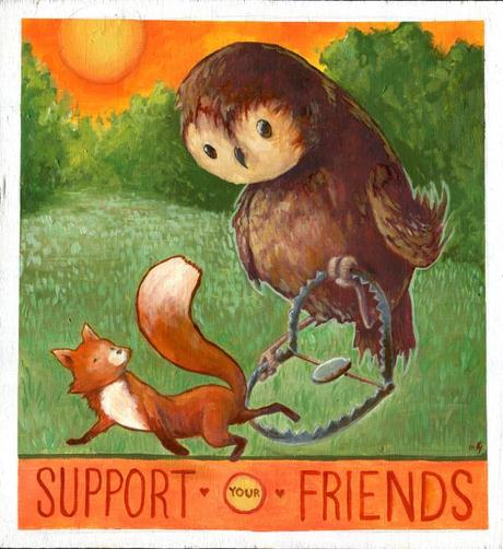 Support Your Friends, by Matt Guack - From last year's Never Alone art exhibition.