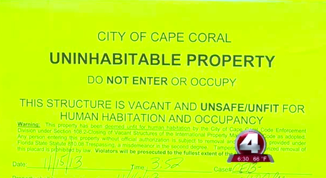 Cape Coral eviction notice