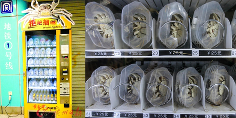 Bilderesultat for crab vending machine