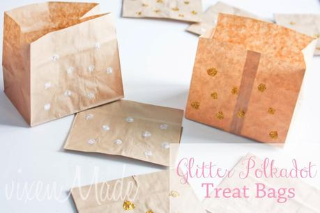 Glitter Polkadot Treat Bags