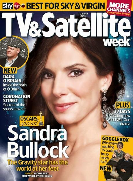 Sandra Bullock TV & Satellite Week Magazine  March 2014
