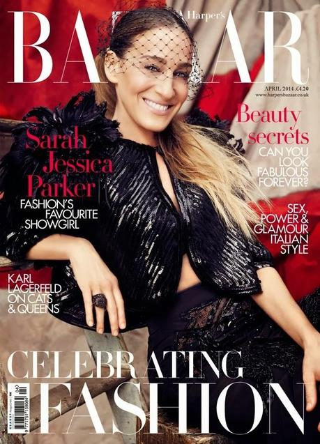 Sarah Jessica Parker by Alexi Lubomirski for Harper's Bazaar UK Abril 2014
